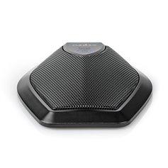 Ενσύρματο πολυκατευθυντικό μικρόφωνο τηλεδιάσκεψης Nedis MICCU100BK - USB - Black