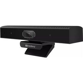WebCam Sandberg All-in-1 ConfCam - Ανάλυση Full HD - USB 2.0 - Μικρόφωνο - Black